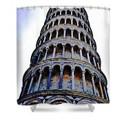 Leaning Tower Of Pisa In Tuscany, Italy Shower Curtain