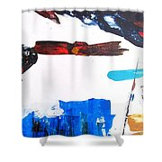 Leaping Lizzard Shower Curtain