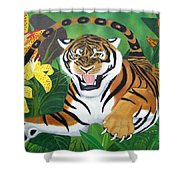 Leaping Tiger Shower Curtain