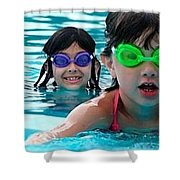 Learn To Swim Shower Curtain