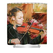 Learning The Violin Shower Curtain