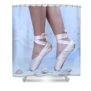 Learning To Walk In Dance World With Pink Pointe Shoes Shower Curtain