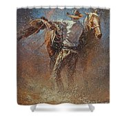 Leather And Sweat Shower Curtain