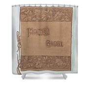 Leather Book Cover Shower Curtain