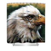 Leather Eagle Shower Curtain by J W Baker