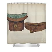 Leather Hat Box Shower Curtain