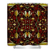 Leather In Floral Harmony And Peace Shower Curtain