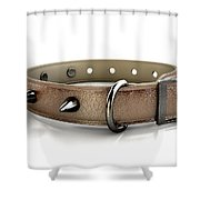 Leather Studded Collar Shower Curtain