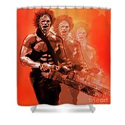 Leatherface Beastmode Shower Curtain