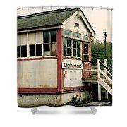 Leatherhead Station Shower Curtain