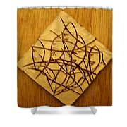 Leaves - Tile Shower Curtain