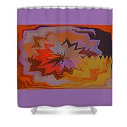 Leaves Abstract - Autumn Motif Shower Curtain