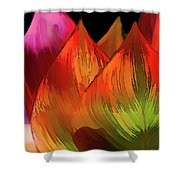 Leaves Aflame Shower Curtain