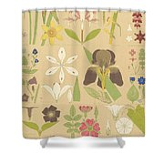 Leaves And Flowers From Nature Shower Curtain