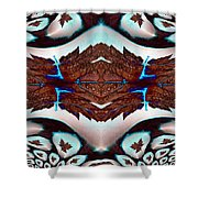 Leaves And Rain Shower Curtain