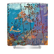 Leaves And Wire Shower Curtain