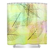 Leaves Background Shower Curtain