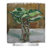 Leaves In A Tall Glass Shower Curtain