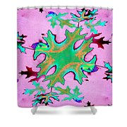 Leaves In Fractal Shower Curtain