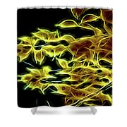 Leaves Of Fire Shower Curtain