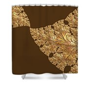 Leaves Of Gold Shower Curtain