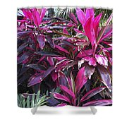 Leaves Of Pink Shower Curtain