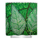 Leaves Of Spring Shower Curtain