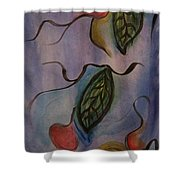Leaves On Silk Shower Curtain