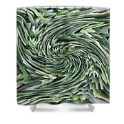 Leaves On Spin Cycle Shower Curtain