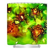 Leaves On The Stream Shower Curtain