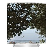Leaves Roof Shower Curtain