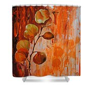Leaves1 Shower Curtain by Chris Steinken