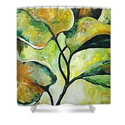 Leaves2 Shower Curtain