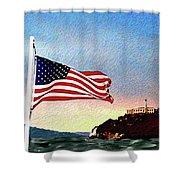 Leaving Alcatraz Shower Curtain