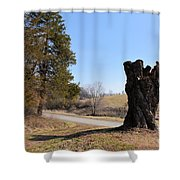 Leaving Dairy Road Shower Curtain