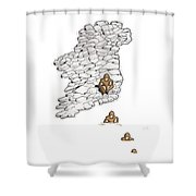 Leaving Ireland Shower Curtain