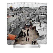 Leaving Old City Shower Curtain