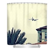Leaving On A Jet Plane 1      Shower Curtain