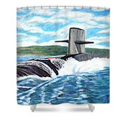 Leaving Pearl Shower Curtain