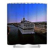 Leaving Port Shower Curtain