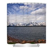 Leaving The Grand Tetons Shower Curtain