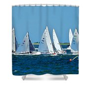 Leaving The Harbor Shower Curtain