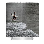 Leaving The Surf Shower Curtain