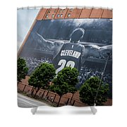 Lebron James Banner Shower Curtain