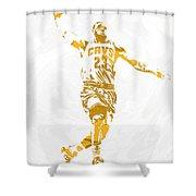 Lebron James Cleveland Cavaliers Pixel Art 12 Shower Curtain