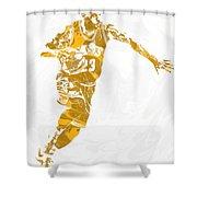 Lebron James Cleveland Cavaliers Pixel Art 14 Shower Curtain