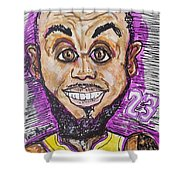 Lebron James Los Angeles Lakers Shower Curtain