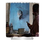 Lebwoski Makes His Peace With The Eagles - The Big Lebowski Shower Curtain