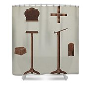 Lectern (reading Stand) Shower Curtain