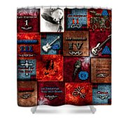 Led Zeppelin Discography Shower Curtain